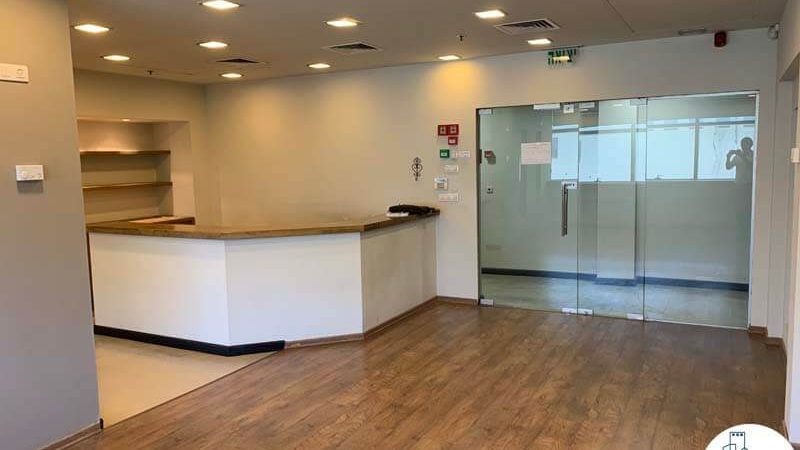 פינת כניסה של משרד להשכרה ברחוב המסגר תל אביב