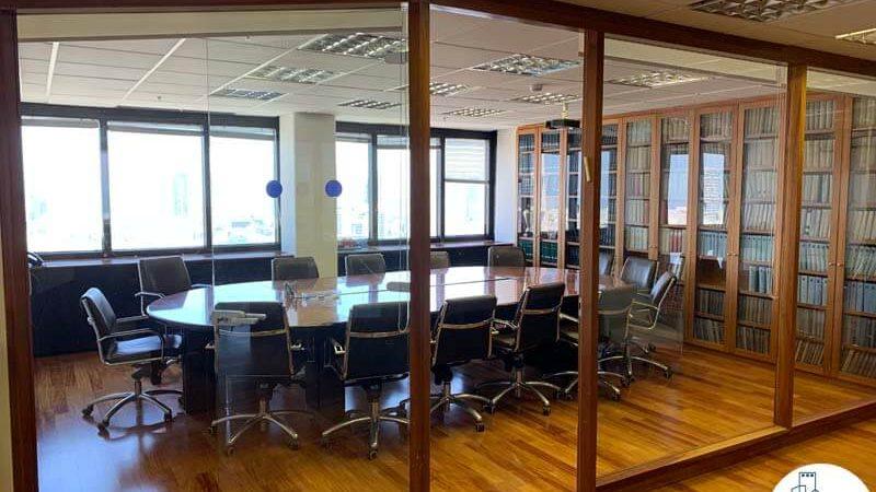 חדר ישיבות של משרד להשכרה במגדל דניאל פריש תל אביב