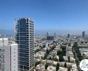 נוף מחלון של משרד להשכרה במגדל דניאל פריש תל אביב