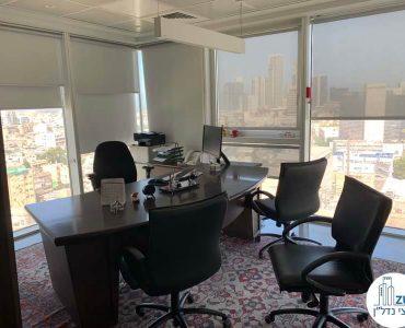 חדר מנהלים של משרד להשכרה במגדל אלקטרה סיטי תל אביב