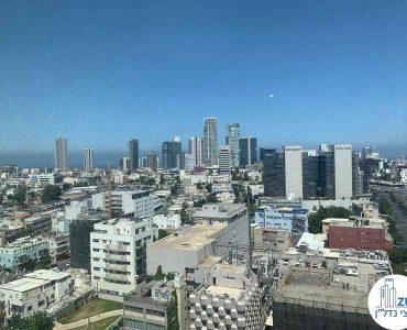 נוף לים מחלון של משרד להשכרה במגדל אלקטרה סיטי תל אביב