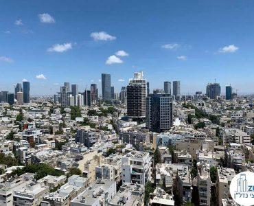 נוף מחלון של משרד להשכרה בבית כלל תל אביב
