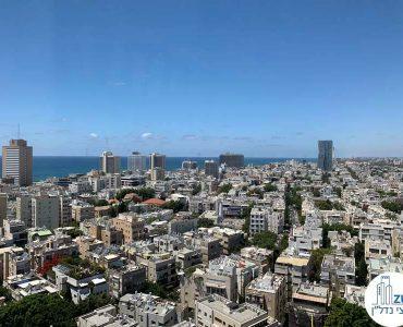 נוף לים מחלון של משרד להשכרה בבית כלל תל אביב