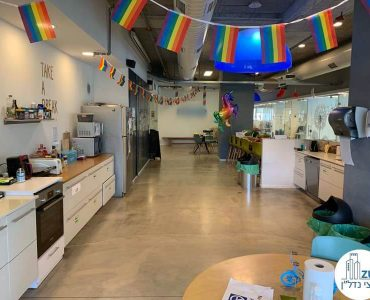 מטבחון של משרד להשכרה בנחלת יצחק תל אביב