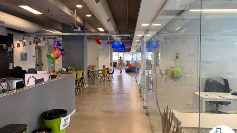 פינת כניסה של משרד להשכרה בנחלת יצחק תל אביב