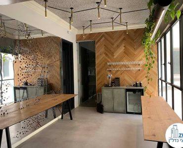 חלל כניסה של משרד להשכרה במתחם רוטשילד תל אביב