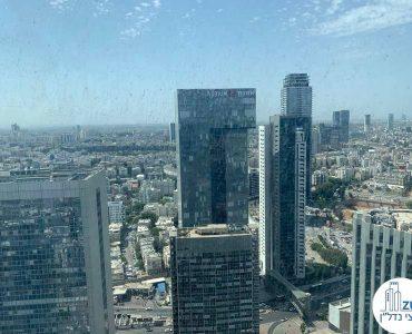 נוף מחלון של משרד להשכרה במגדל ספיר רמת גן