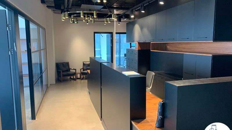 עמדת קבלה של השכרת משרד במגדלי הארבעה תל אביב