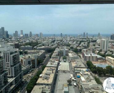 נוף לים מחלון של השכרת משרד במגדלי הארבעה תל אביב