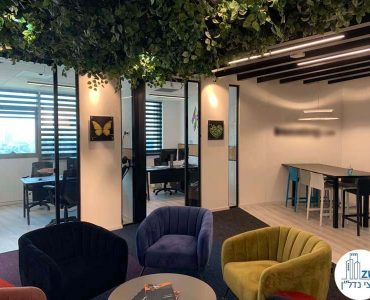 כניסה לחדרים של משרד להשכרה במגדל אדגר 360 תל אביב
