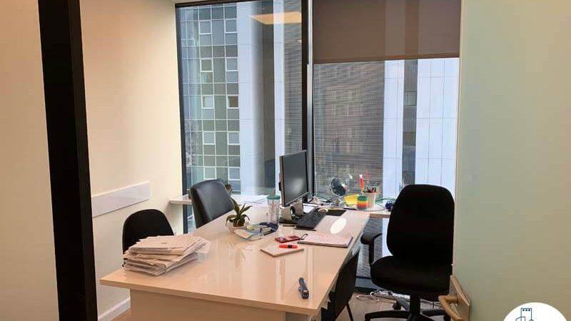 חדר עבודה של השכרת משרד במגדל מידטאון תל אביב