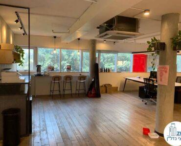 פינת אוכל של השכרת משרד במתחם רוטשילד תל אביב