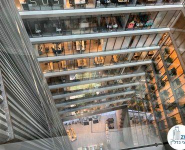 נוף לבניין תוהא מחלון של משרד להשכרה במגדל תוהא תל אביב