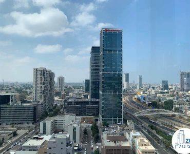 נוף למגדל אלקטרה מחלון של משרד להשכרה במגדל תוהא תל אביב