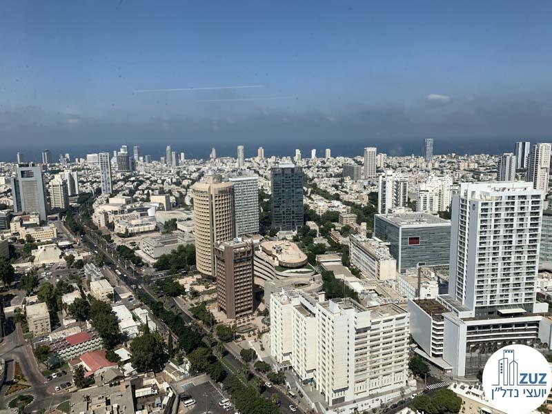 נוף של מגדלים בתל אביב