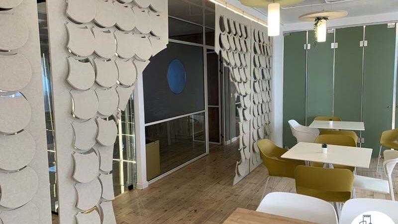 חדר אוכל של משרד להשכרה במתחם רוטשילד תל אביב