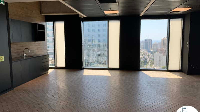 מטבחון של משרד להשכרה במגדל רסיטל בתל אביב