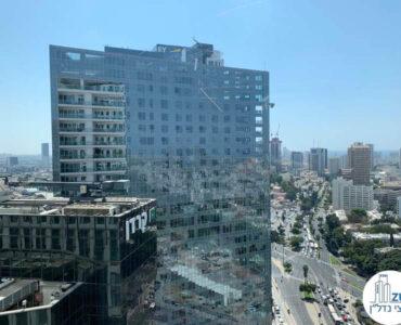 נוף למגדל WE מחלון של משרד להשכרה במגדל רסיטל בתל אביב