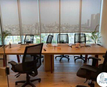 חדר ישיבות של משרד להשכרה במגדל WE תל אביב