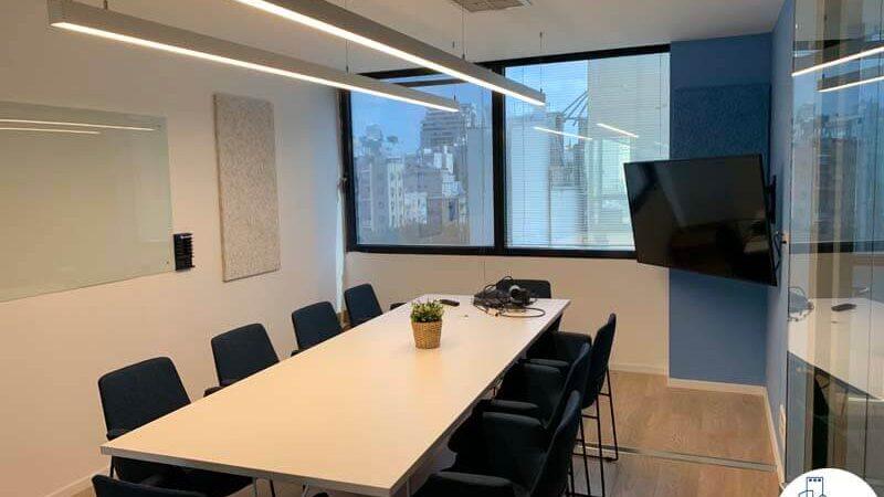 חדר ישיבות של משרד להשכרה בבית אגיש רבד תל אביב