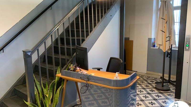 פינת קבלה של משרד להשכרה בטמפלרים בשרונה תל אביב