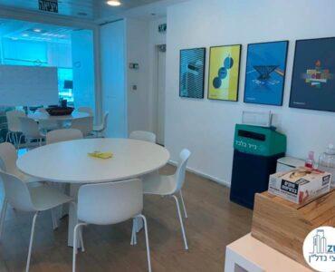 פינת אוכל של משרד להשכרה במגדל דיסקונט תל אביב