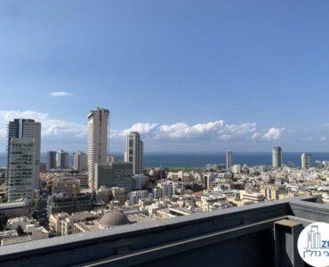 נוף לים ממרפסת של משרד להשכרה על שדרות רוטשילד תל אביב