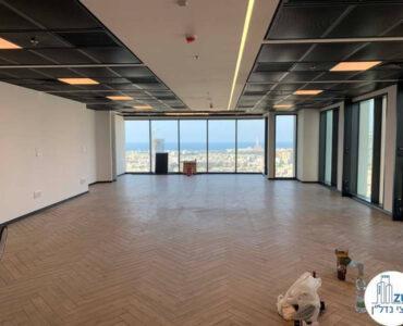 אופן ספייס של משרד להשכרה ברסיטל עם נוף לים בתל אביב