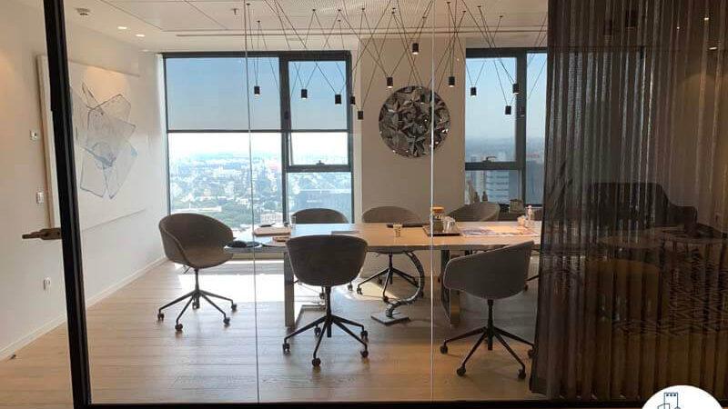 חדר ישיבות של משרד להשכרה במגדלי אלון תל אביב
