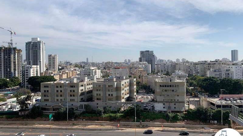 נוף ממרפסת של משרד להשכרה מגדל רסיטל תל אביב