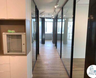 מסדרון של משרד להשכרה מגדל רסיטל תל אביב