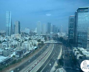 נוף מחלון של משרד להשכרה במגדל טויוטה תל אביב