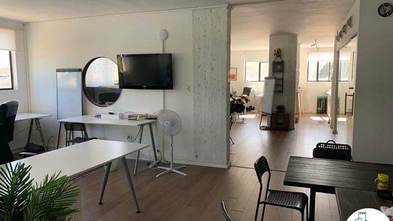 עמדות עבודה של משרד להשכרה בשכונת מונטיפיורי תל אביב