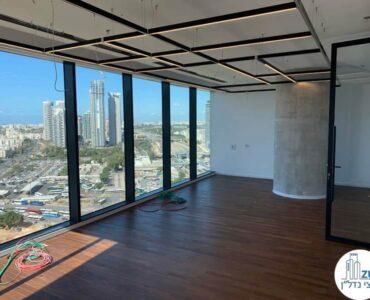 חדר ישיבות של משרד להשכרה במגדל רסיטל תל אביב