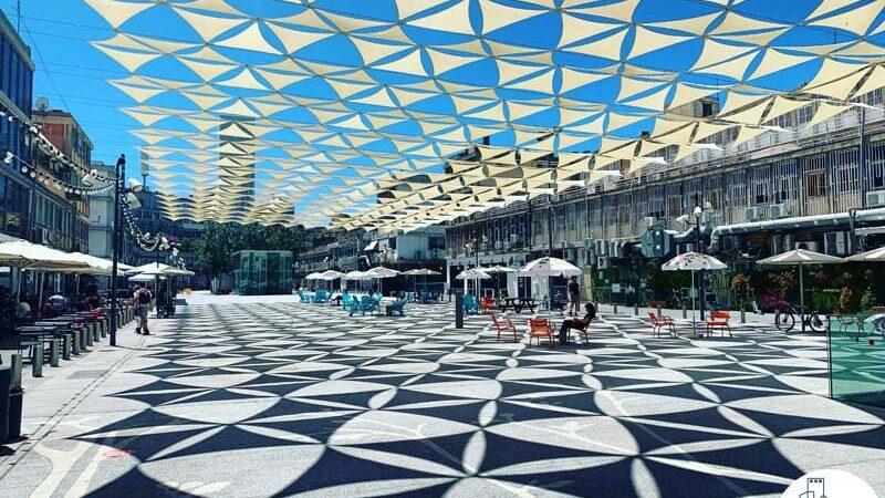 כיכר גבעון במתחם שרונה תל אביב