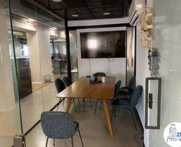 חדר ישיבות של משרד להשכרה בבית וואלה תל אביב